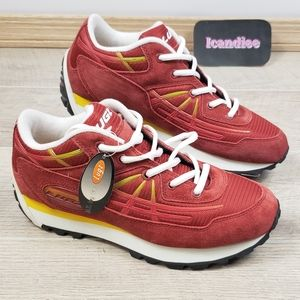 Mens Red Yellow Lugz Sneakers Shoes Sz 6.5